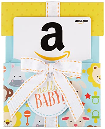 Amazon.com: Amazon.com Gift Card in a Hello Baby Reveal: Gift Cards