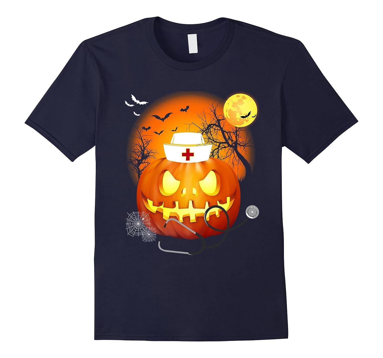 Nurse Halloween Shirt Funny Pumpkin Shirt For Nurse-Art