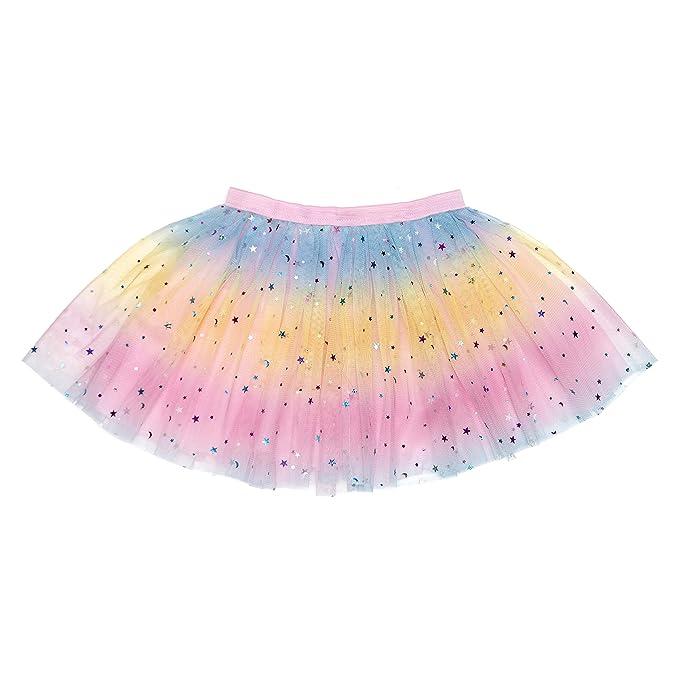 Amazon.com: Sweet Wink Unicorn Rainbow Sparkle Tutu Falda ...