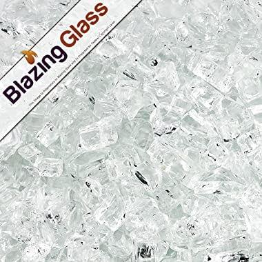 Blazing Fireglass 10-Pound Fire Glass with Fireplace Glass and Fire Pit Glass, 1/4-Inch, Star Fire