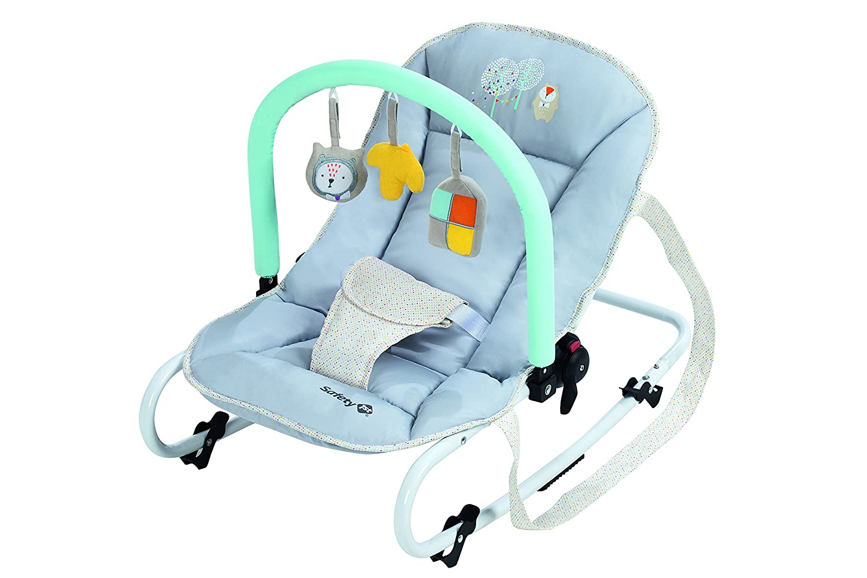 Safety 1st Koala - Gandulita reclinable, fija o balancín, color Happy Woods: Amazon.es: Bebé