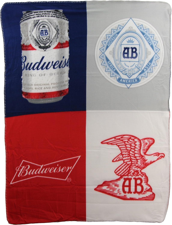 """Northwest Beer Brand Fleece Throw Blankets 46"""" x 60"""" (Budweiser Crest)"""