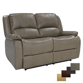 RecPro Charles 58u0026quot; Double RV Zero Wall Hugger Recliner Sofa Loveseat RV  Furniture Putty