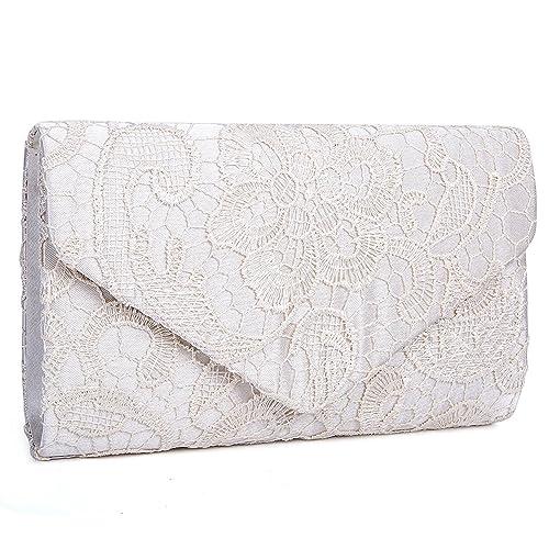 aa6c8ecea4 Borsa elegante borsa di sera pochette e clutch donna per Cerimonia  (albicocca)