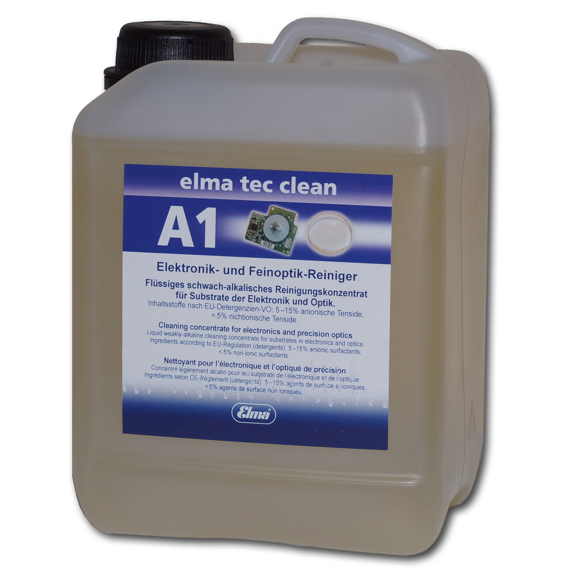 Elmasonic 800 0102 Elma TEC Clean A1 Ultrasonic Cleaner Solution Concentrate for Electronics and Optics- Powerful Cleaning Fluid for Industrial Use by Elmasonic