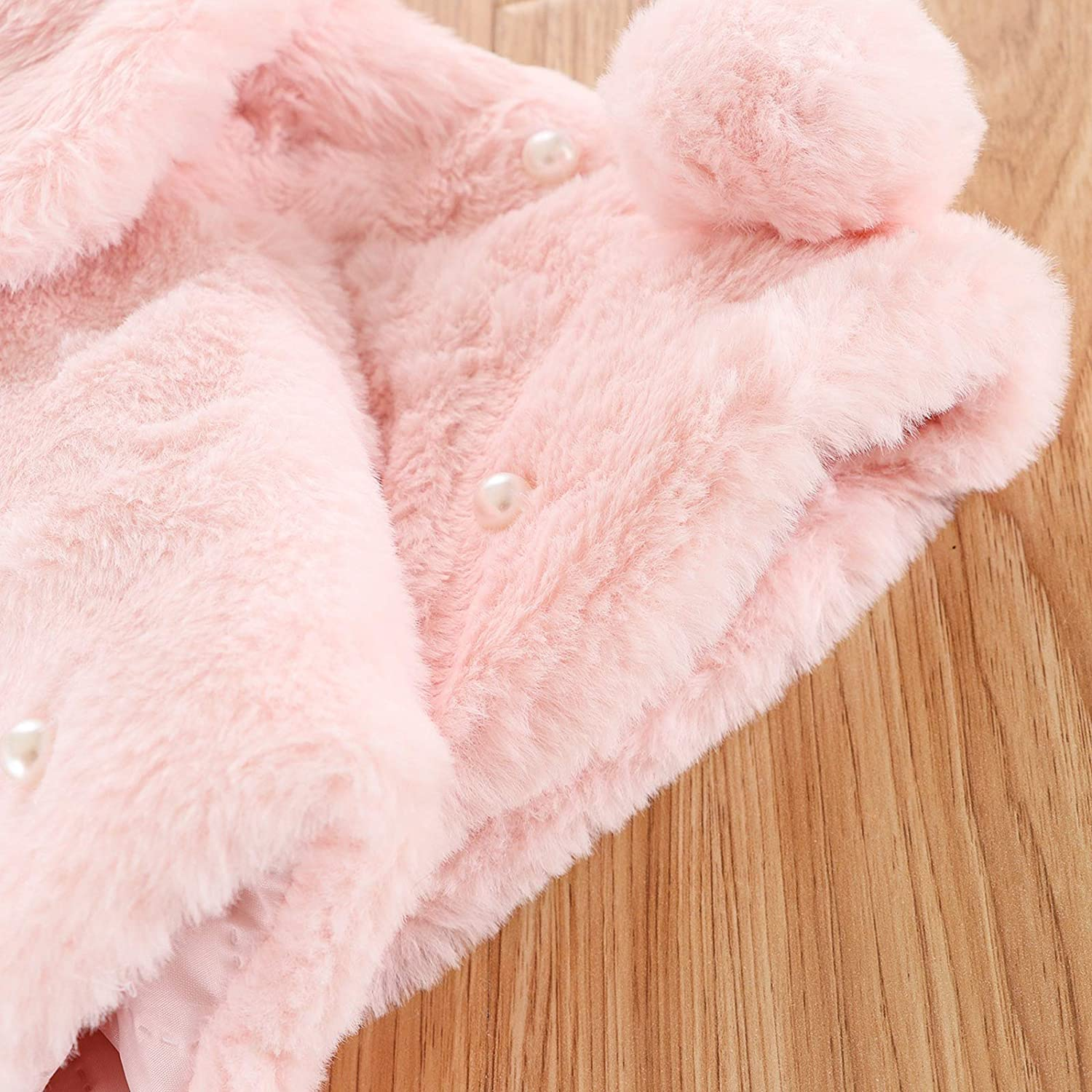 MoccyBabeLee Infant Baby Girls Coat Faux Fur Long Sleeve Cape Cloak Jackets Outwear Warm Winter Clothes 0-4 Years