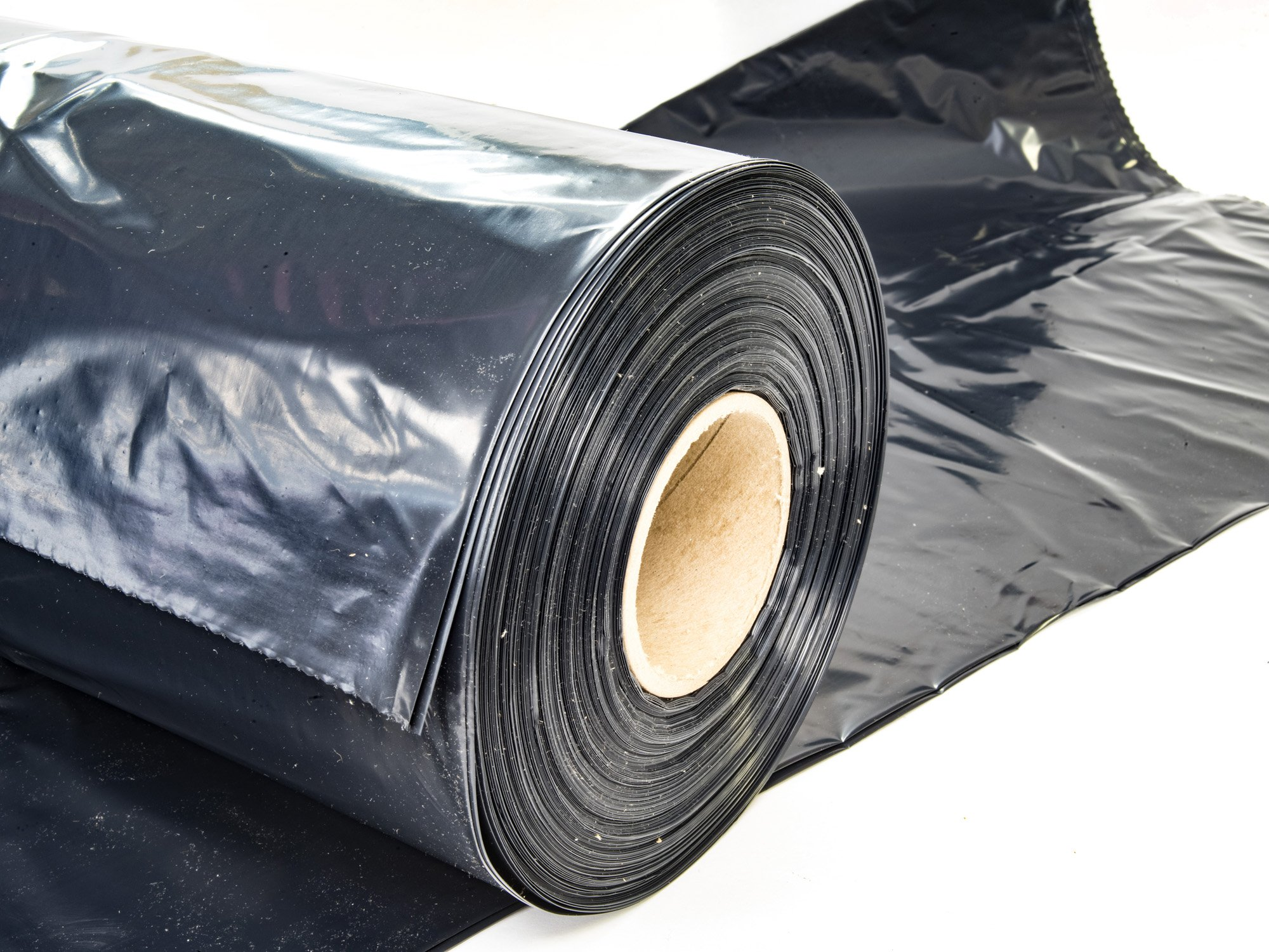 Contractor Bags - 3 Mil Trash Can Liners - 45 Gallon Heavy Duty Black (100 Roll)