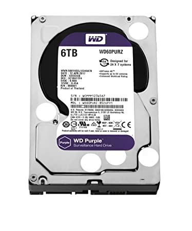 WD Purple 6TB SATA Internal Surveillance Hard Drive (WD60PURZ) SATA at amazon
