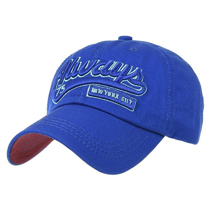 ac34bab487324 WITHMOONS Gorras de béisbol Gorra de Trucker Sombrero de Baseball Cap  Cotton Embroidery Always New York