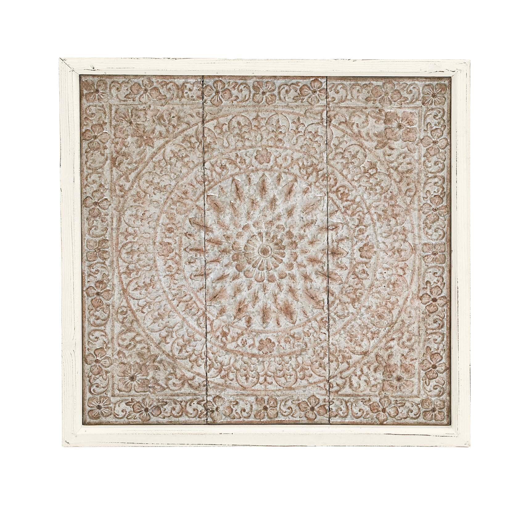 Deco 79 55533 Wood/Metal Wall Plaque, 34'' x 34''