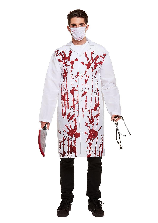 Blue Banana Disfraz Doctor o Doctora Sangrienta (Blanco): Amazon.es: Juguetes y juegos