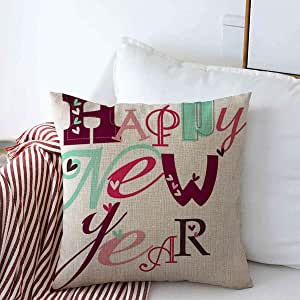 Amazon.com: Throw Pillow Covers Party Red January Happy ...