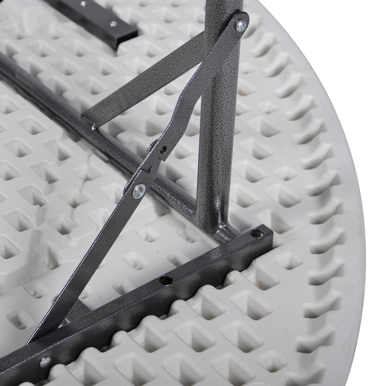 Nexos Partytisch rund 160 x 75 cm klappbar wei/ß Gartentisch bis 8 Personen 24 kg pflegeleicht robust Klapptisch