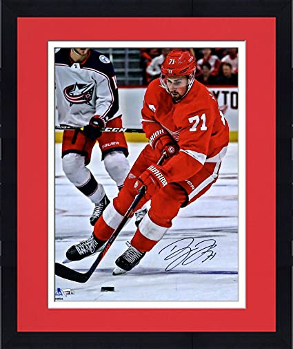 brand new a1d14 56f7a Image Unavailable. Image not available for. Color  Framed Dylan Larkin  Detroit Red Wings Autographed ...