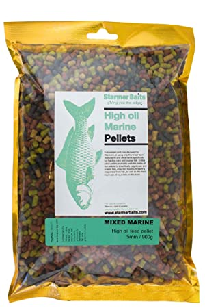 Mixed HALIBUT marine high feed pellets for carp /& coarse fishing 25kg 2,5/&8mm