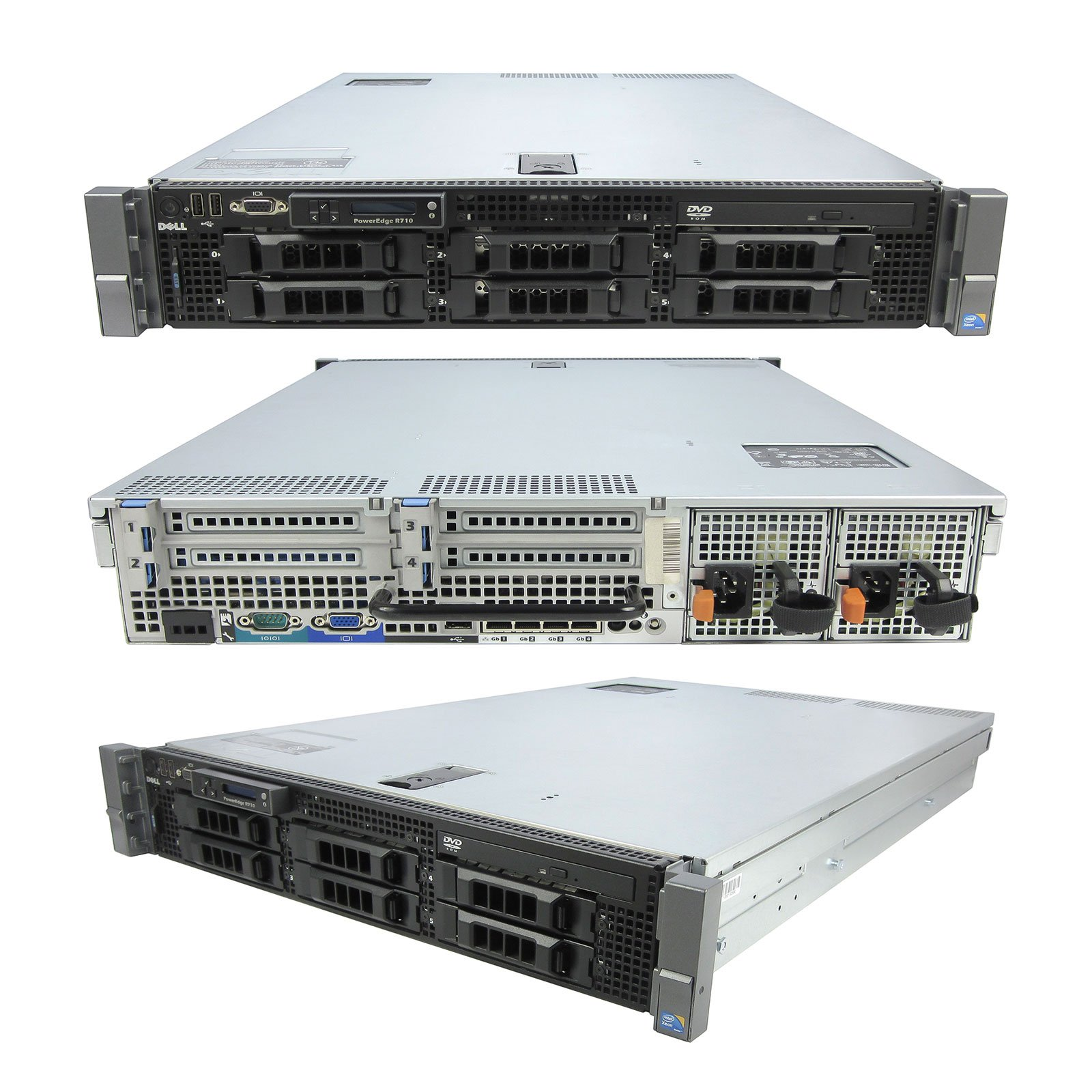 Lot of 4 High-End Virtualization Server 12-Core 128GB RAM 12TB RAID Dell PowerEdge R710 (Certified Refurbished)