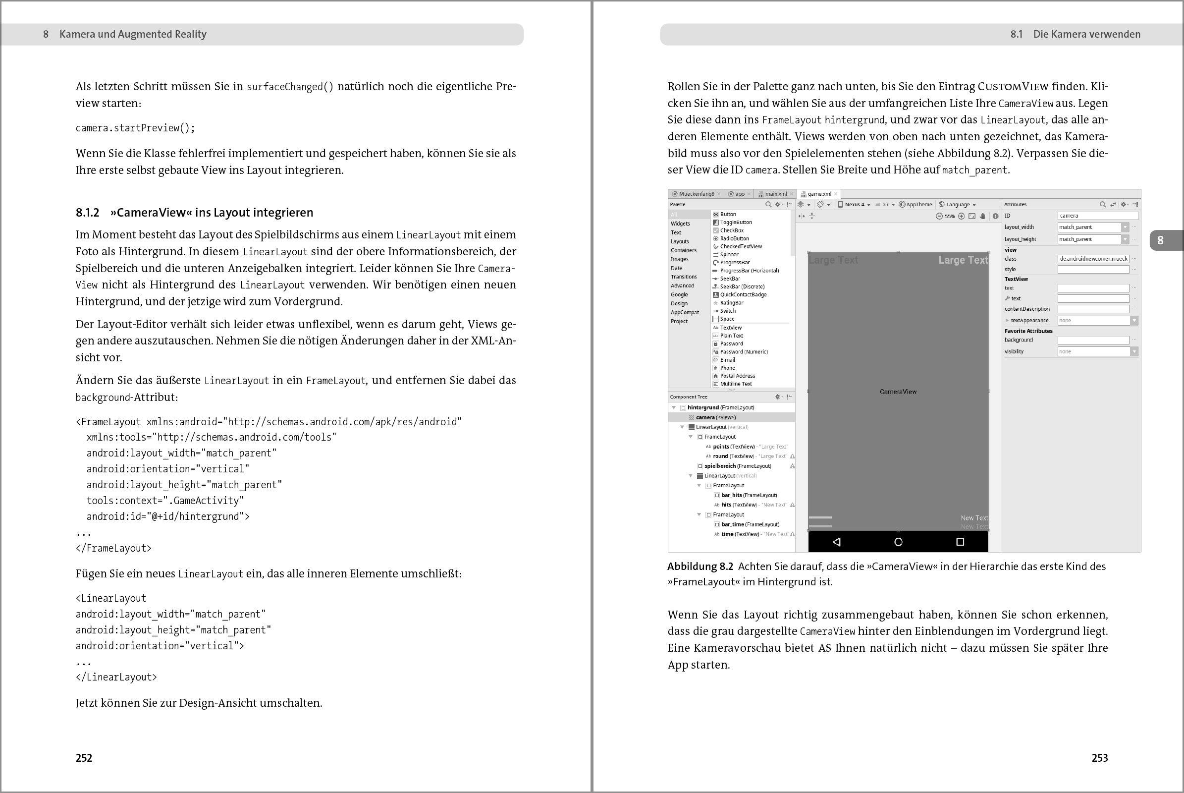 Charmant Wie Frame Layout In Android Verwenden Galerie - Rahmen ...