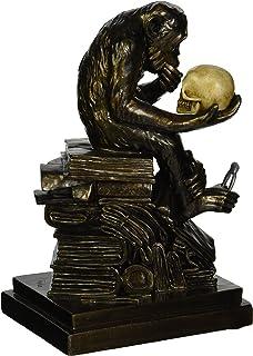 Design Toscano Charles Darwinu0027s Ape Human Evolution Figurine Animal Statue,  8 Inch, Polyresin,