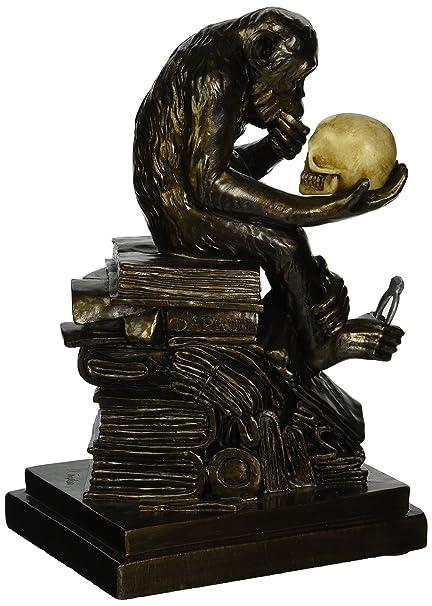 European Design Bronze Statuettes Skull Skeleton Thinker Bookend Book End Sale Art