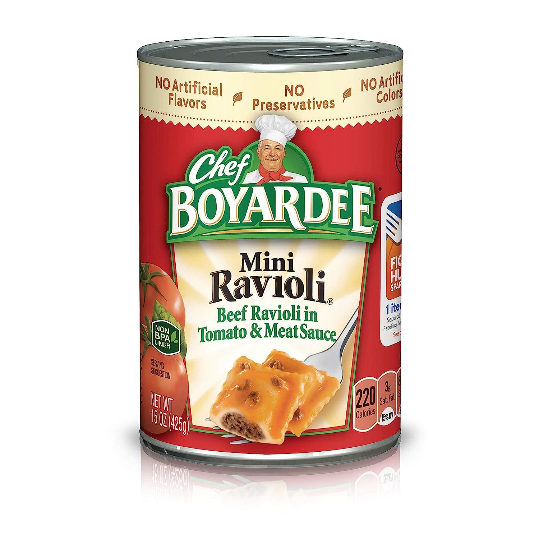 Chef Boyardee Mini Beef Ravioli in Tomato & Meat Sauce, 4-pack, 60 oz