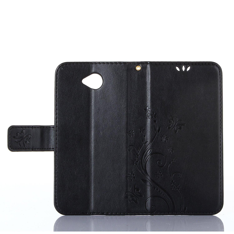 PU Custodia a libro per Lumia 650 in similpelle Dooki custodia a portafoglio con funzione di supporto e inserti per carte di credito