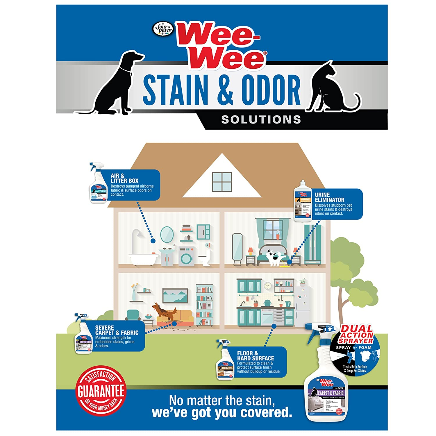 Amazon Four Paws Wee Wee Carpet & Fabric Severe Pet Stain