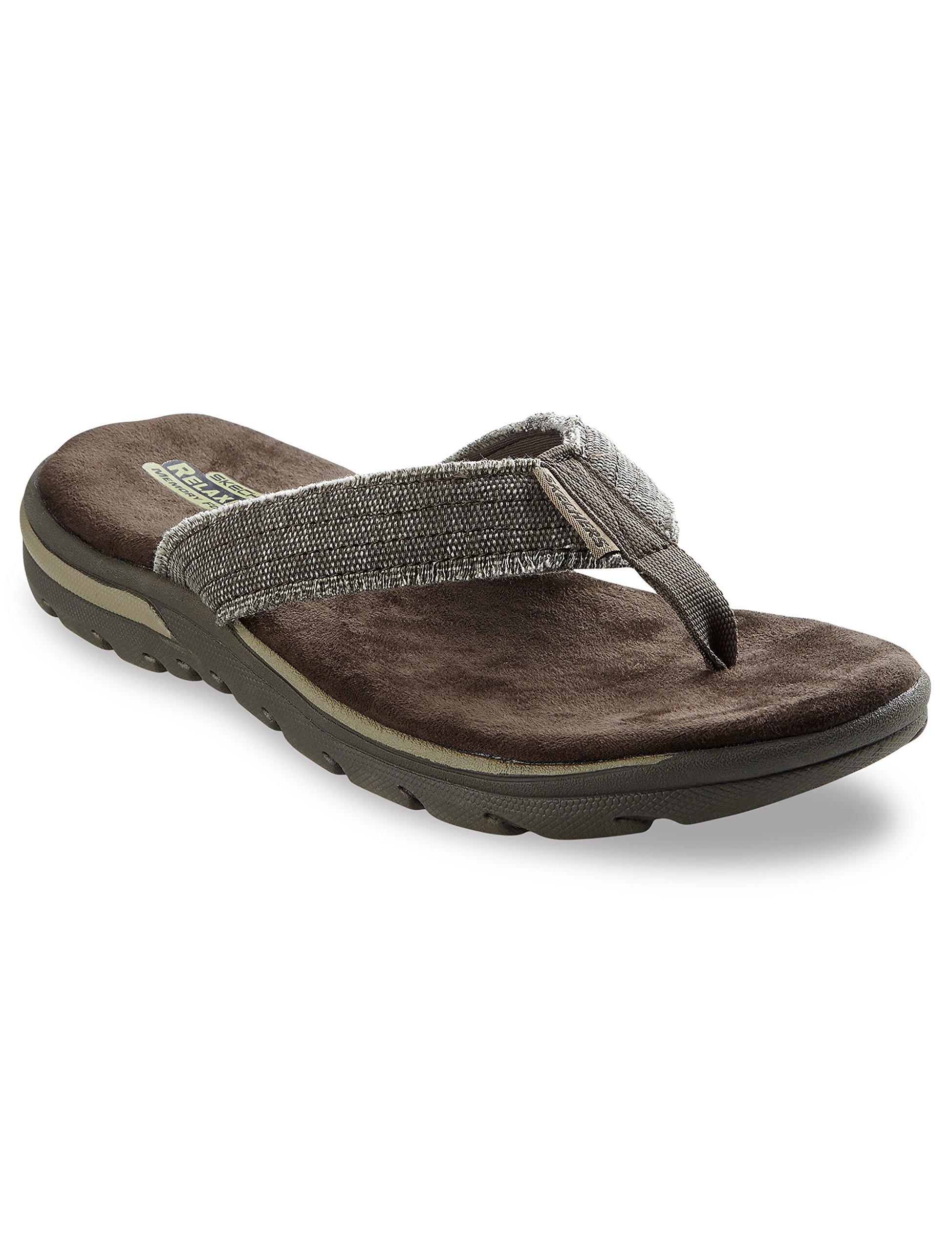 Skechers Men's, Supreme Bosnia Thong Sandals Chocolate 16 M
