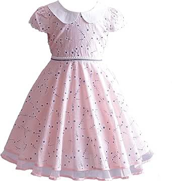 Cinda Vestido de Fiesta de Verano de algodón Rosa