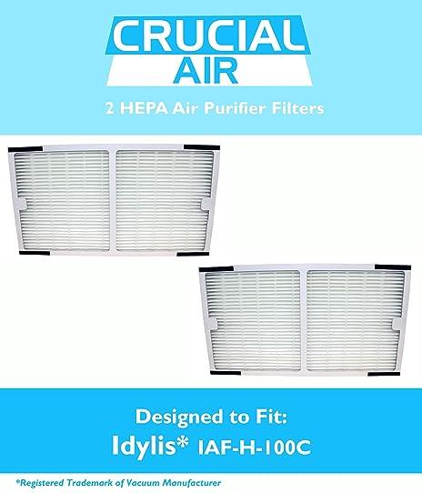 2 idylis hepa air purifier filter fits idylis air purifiers iap10200