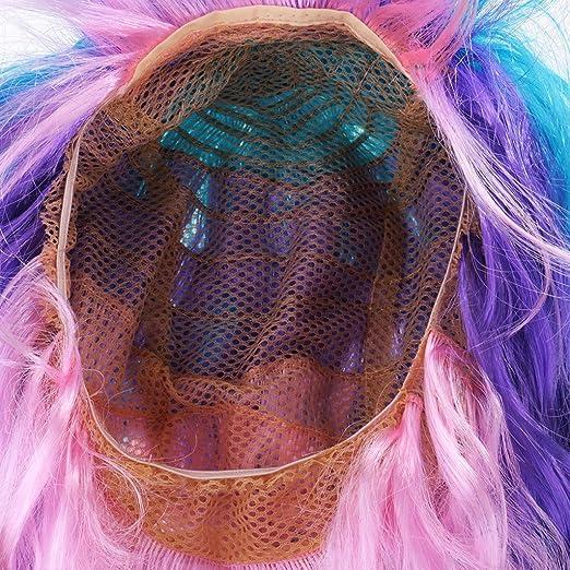 Gazechimp 2x Peluca de Pelo Unicornio Vestido de Lujo Fiesta Cosplay Navidad Presentación Teatral Accesorios Cabello: Amazon.es: Juguetes y juegos