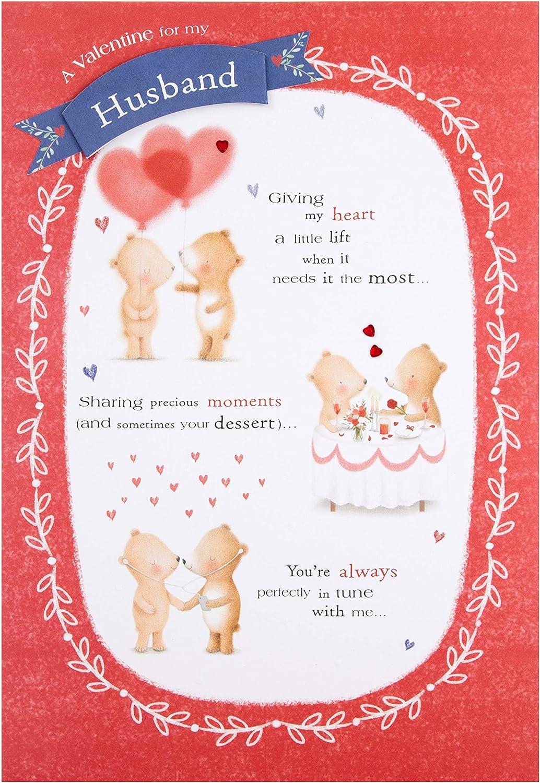 Embossed Plaque Design Valentine Card for Husband from Hallmark