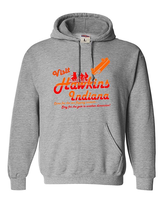 Go All Out Adult Visit Hawkins Indiana Funny Sweatshirt Hoodie
