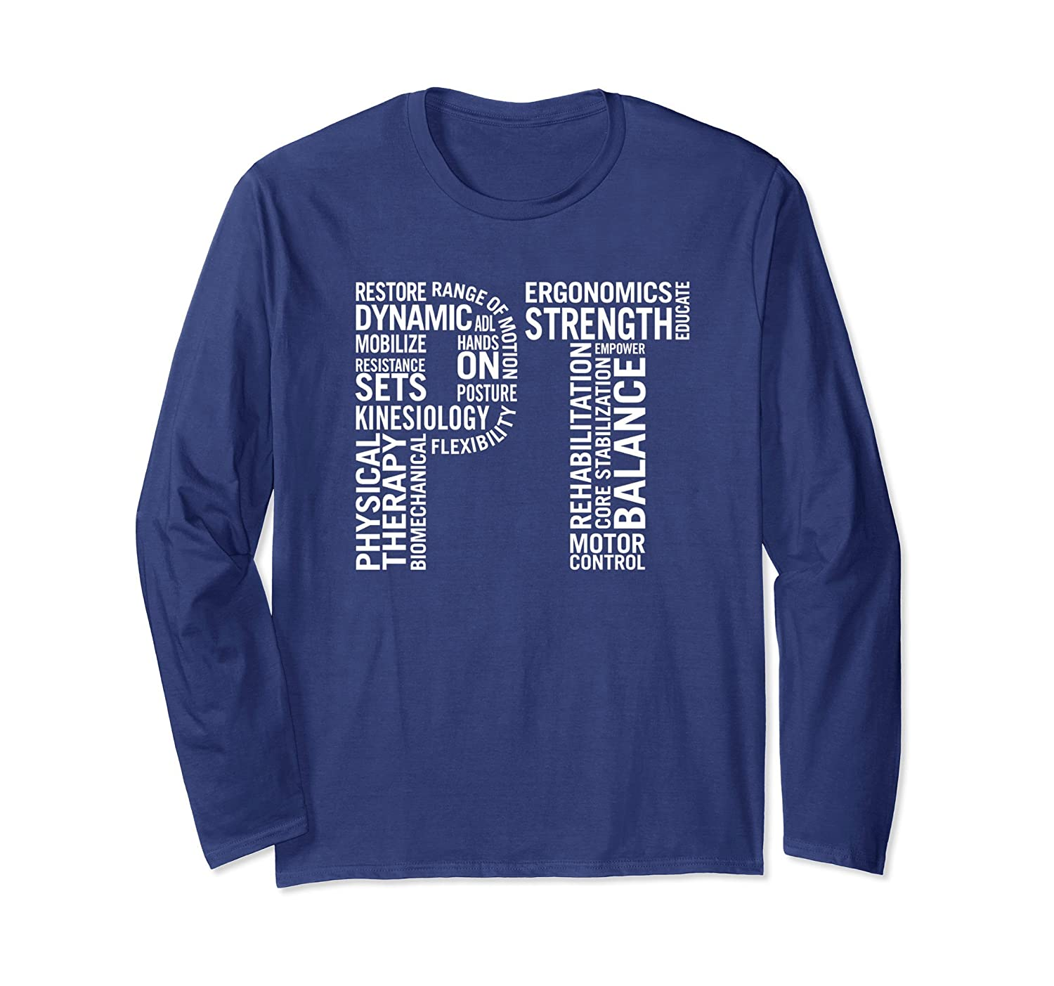 Physical Therapy Long Sleeve T-Shirt-fa