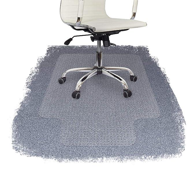 Protector de suelo con bordes para sillas de oficina (100 % policarbonato), de FloordirektPRO, plástico, Transparente, 75 x 120 cm (with Lip): Amazon.es: ...