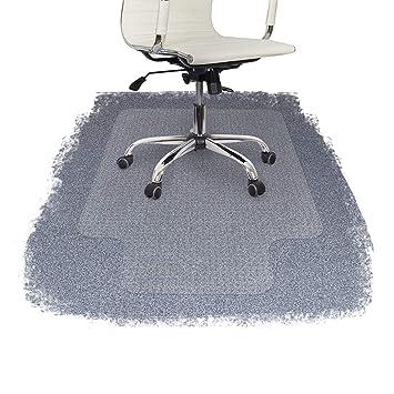Protector de suelo con bordes para sillas de oficina (100 % policarbonato), de