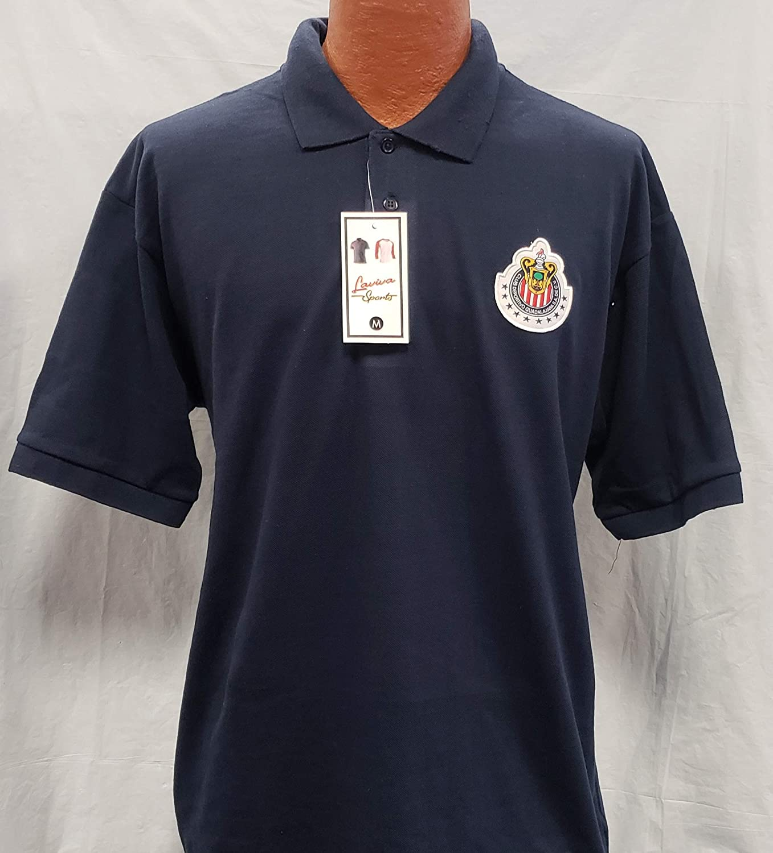 Liga MX New Chivas de Guadalajara Generica Polo Shirt with Patch Adult Size L