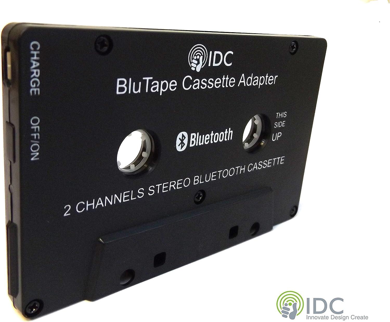 IDC © BluTape Bluetooth receptor coche / Van estéreo Cassette adaptador - vuelta un cassette estéreo estándar cinta Bluetooth reproductor de música inalámbrico. Stream de audio desde el reproductor de