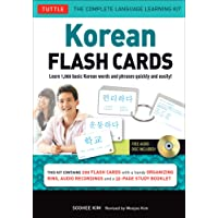 Korean Flash Cards Kit: Learn 1,000 Basic Korean Words and Phrases Quickly and Easily! (Hangul & Romanized Forms) (Audio-CD Included)