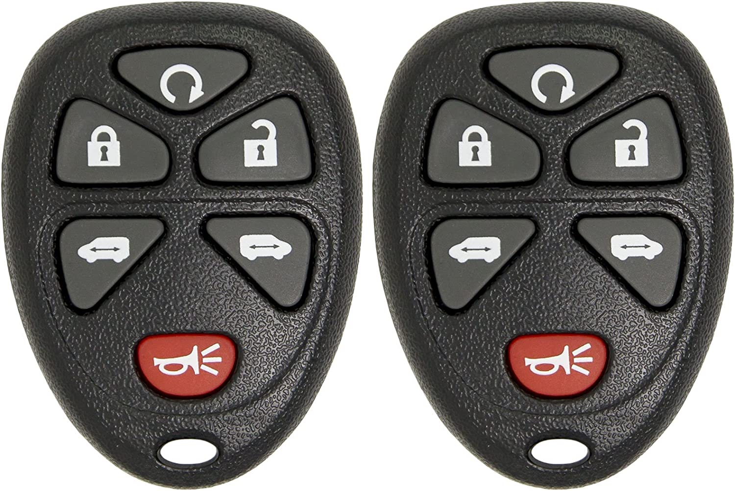 Keyless2Go Remote Keyless Entry Car Key Fob Replacement for GM Vehicles KOBGT04A 15114376-2 Pack
