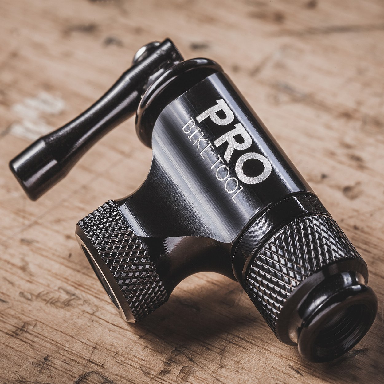 Pro Bike Tool CO2 Inflator - Limited Edition Black - Quick & Easy - Presta and Schrader Valve Compatible - Bicycle Tire Pump For Road and Mountain Bikes - Insulated Sleeve - No CO2 Cartridges Included by Pro Bike Tool (Image #2)