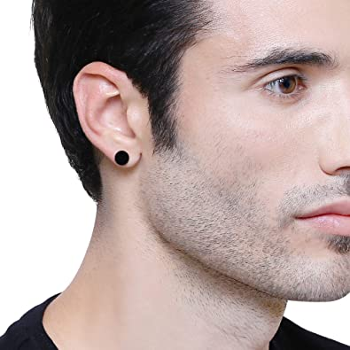 881786e1c Buy Mens Punk Ear/Eyebrow Stud Damroo Stylish Black Color Stud (Need  Pearcing) For Guys/Boys/Mens/Gents Online at Low Prices in India | Amazon  Jewellery ...