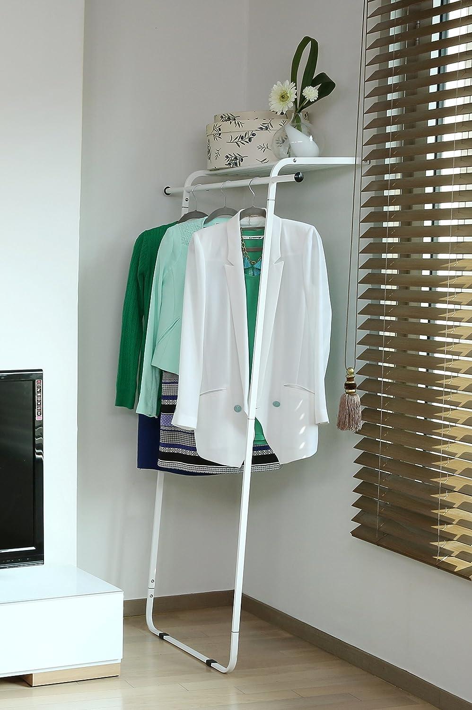 Amazon.com: idée leaning garment rack with shelf: home & kitchen