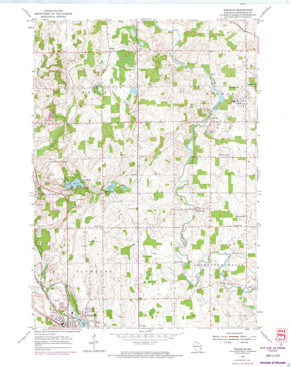 Amazon Com Yellowmaps Franklin Wi Topo Map 1 24000 Scale 7 5 X