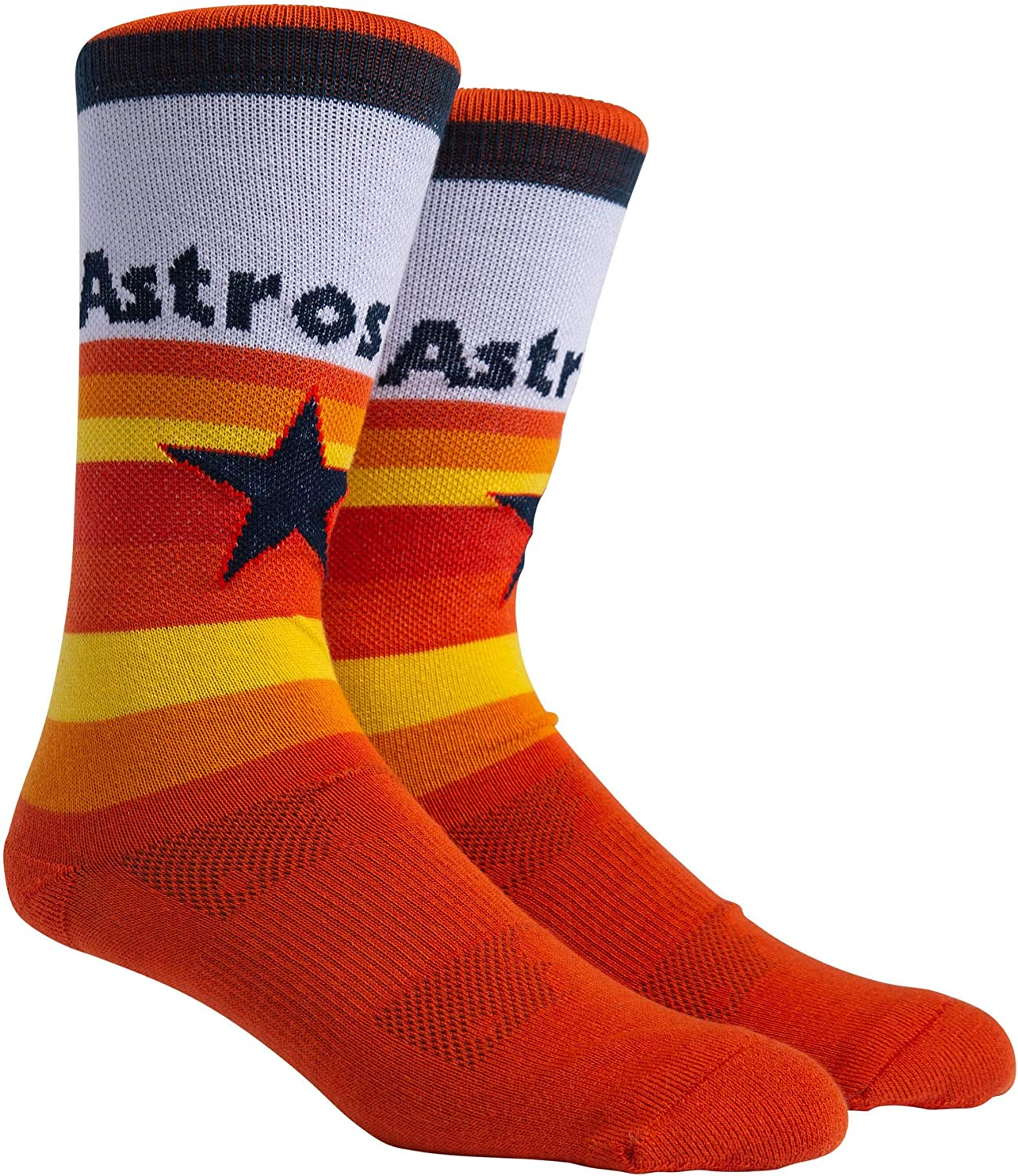 PKWY by Stance MLB Unisex 1-Pack Houston Astros Uniform Player-Number Crew Socks