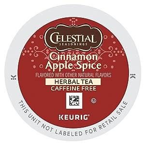 Celestial Seasonings Cinnamon Apple Spice Herbal Tea K Cups 24 count