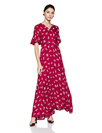 29021b67bd3 Stalk Buy Love Women s Viscose Linda Maxi Dress (Multicolour