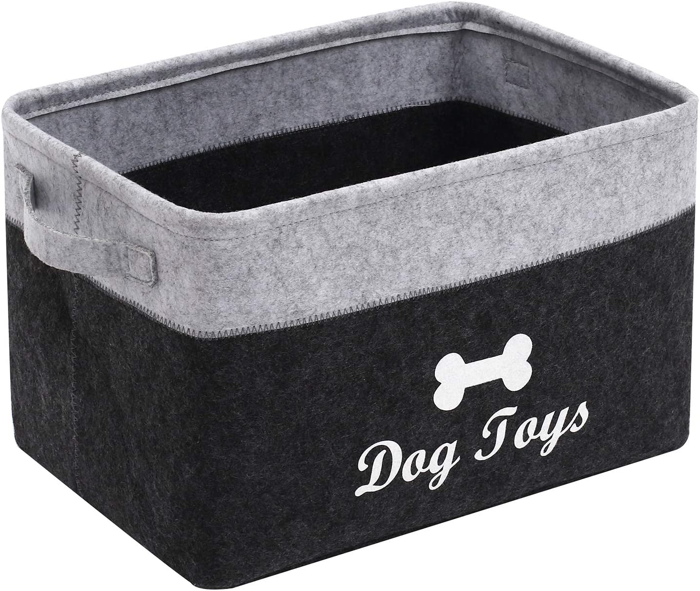 Geyecete Dog Toys Storage Bins - Pet Toy and Accessory Storage Bin, Organizer Storage Basket for Pet Toys, Blankets, Leashes and Food