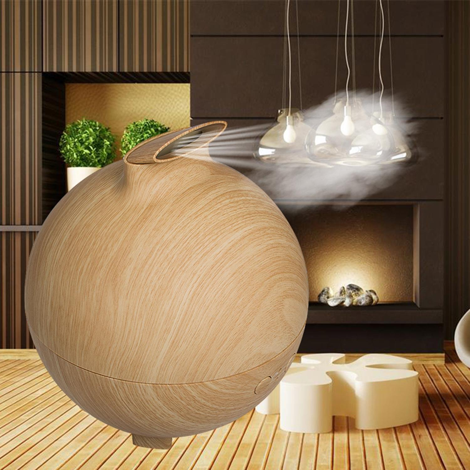 Enshey 500ml Ultrasonic Aroma Essential Oil Diffuser Quiet Cool Mist Humidifier Air Humidifier Automatic Shut-off Essential Oil Fragrance Machine for Office Home Bedroom Baby Room Study Yoga Spa
