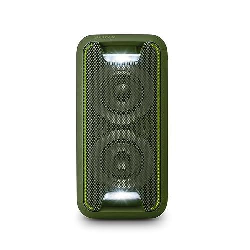 Sony GTKXB5G CEL Sistema de Audio Extra Bass Bluetooth NFC Party Chain configuración Vertical y Horizontal con Luces Verde
