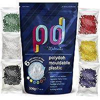 Polydoh plástico moldeable + 6 libre paquetes de colorear gránulos, plástico, 500g (también conocido como polimorph…